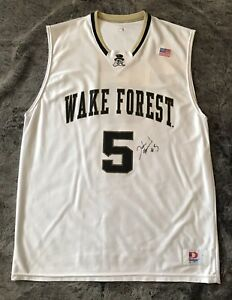 Autographed Signed Josh Howard Wake Forest Jersey Authentic