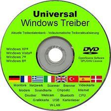 Universal Treiber CD/DVD WINDOWS 8 7 Vista XP (32 & 64Bit) NEU Drucker Modem PC