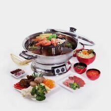 Electric Steamboat Teppanyaki and Hot Pot Set Asian Soup Fondue 2000w Maxim