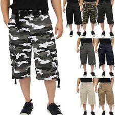 4a8b791dd6 ... LENGTH BIG AND TALL. $37.95. Proclub TWILL CARGO SHORTS Casual Pants  Mens Authentic Classic Multi Pockets