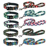 Personalised Soft Neoprene Padded Dog Collar&Lead Custom Name Small Medium Large
