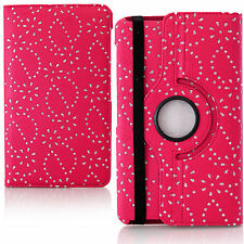 Diamond Rotate Cover Stand Case for Samsung Galaxy Tab 3 8.0 T310 Pink