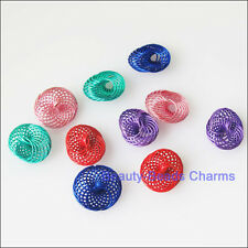 20Pcs Mixed Hollow Spring Spacer Beads Charms 12mm