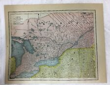 Antique Map of Quebec-Ontario Canada Gaskell's 1888 Atlas  Canadian Decor