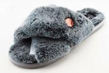 Volcom Size 9 Medium (B, M) Gray Slide Faux Fur Women Slipper Shoes