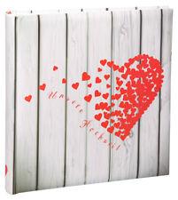 Unsere Hochzeit Fotoalbum in 30x30 cm 100 weiße Seiten Herz Foto Buch Album