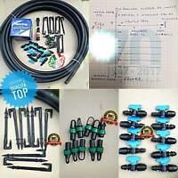 Kit irrigazione orto completo impianto a goccia da 100 mq manichetta 16 passo 20