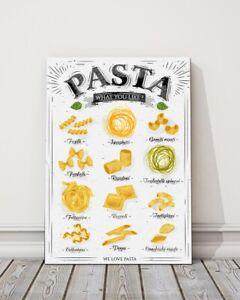A pasta description canvas picture portrait modern kitchen art