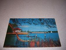 1950s YACHT CLUB on RICHELIEU RIVER ST. JEAN QUEBEC VTG POSTCARD