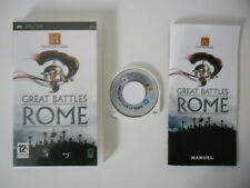 THE HISTORY CHANNEL GREAT BATTLES OF ROME - SONY PSP - JEU PSP COMPLET