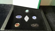Skoda IAA 2001 Pin Collection Set History in Etui Emblem der Zeit als Pin Edel