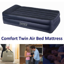 Comfort Portable Twin Air Bed Mattress Pillow Rest Raised With Built-In Pump