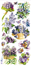 Violette Sticker Panel - Victorian Lilacs and Violets