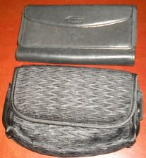 Sonoma Black Leather Wallet and Black Cosmetic Case