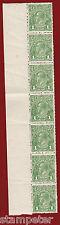 1924 Australia KGV, no wmk, SG 83, Strip of Seven Stamps, MNH, One Penny