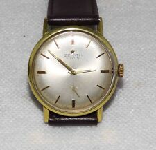 ZENITH 220S MENS 1960's Gold Stainless Steel  W/Watch Cal2531 Rare Orig Dial