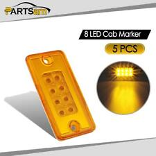 5Pcs Yellow 8 LED Roof Running Cab Marker Reflective Lights for Freightliner