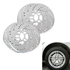 "4Pcs Tone Aluminum Cross Drilled Car Disc Brake Rotor Covers Fit for 14""+ Wheels"