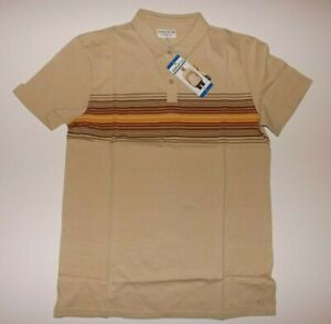 HANG TEN Short Sleeve Polo Shirt Pale Khaki Size XL X-Large NWT Mens