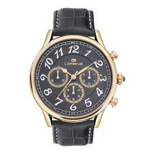 Orologio Uomo Lorenz Chrono Black/gold Black Leather Lz30023dd - (list. )