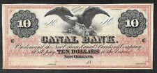 US Obsolete 10 Dollar Note - Canal Bank, New Orleans - Uncirculated