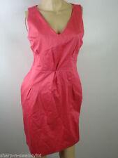 Cotton V-Neck Work Sleeveless Dresses for Women