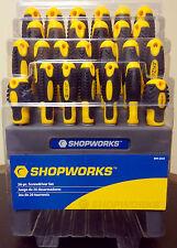 26 Piece Shopworks HD Magnetic Screwdriver Set Phillips Star Slotted Pozi + Rack