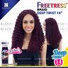 "FREETRESS DEEP TWIST 14"" SYNTHETIC HAIR CROCHET BRAID"