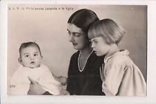 Vintage Postcard Princess Yolanda of Savoy, Countess of Bergolo & Family