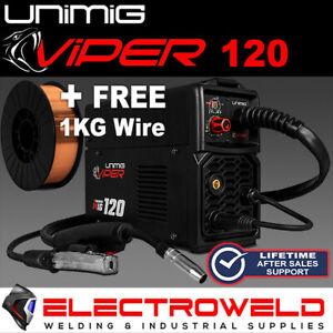 UNIMIG Viper 120 Mig Welder + Torch +Free Wire , Gas Gasless Synergic KUMJRVM120