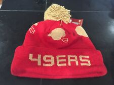 84fd5e1f5 MITCHELL AND NESS SAN FRANCISCO 49ERS HELMET CUFFED POM BEANIE RED GOLD NWT