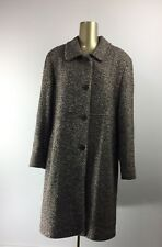 GC COLLECTION by GALLERY Button Down Brown Wool Coat with Lining Women's Size 16