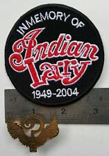 Biker Chopper Indian Larry harley custom legacy QUESTION patch + pin ? memory
