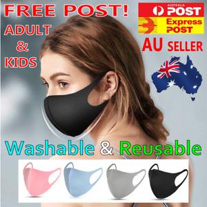 Washable Reusable Adult & Kids Unisex Face Mask Mouth Masks Protective  AU STOCK