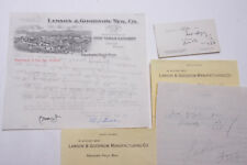 1927 Lamson Goodnow Ludlum Steel Co NYC Signed Hanwritten Ephemera L330F
