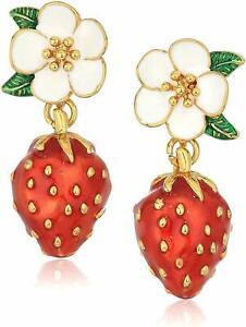 Kate Spade New York Perfect Picnic Strawberry Drop Earrings