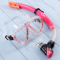 Adult Dive Mask Swimming Goggles Set Dry Breath Tube Snorkel Scuba Snorkelling