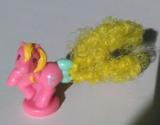 My Little Pony G1 PETITE PONY Pink, Yellow Hair, Clock Symbol Vintage MLP 1980's