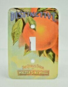 Distinctive Brand: The Citrus Farm of Walter S Newhall Light Switch Plate Covers