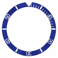 Bezel Insert For Tag Heuer Or Omega Seamaster Watch 37Mm X 32Mm Blue