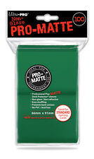 1 Pack 100 ct.Ultra Pro-Matte GREEN CCG Deck Protector Gaming Card Sleeves