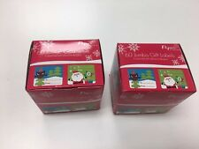 (#110199) 2 Boxes Of 60 Jumbo Gift Labels 6 Assorted Self-adhesive Designs