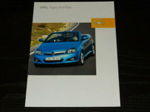 OPEL TIGRA TWIN TOP brochure catalogue documentation commerciale édition 09/2004