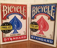 2 New Sealed Deck of Bicycle Standard Face Poker Playing Cards 1 Red and 1 Blue