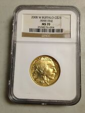 2008 NGC W Buffalo G$25 .9999 Fine MS70 Gold Coin