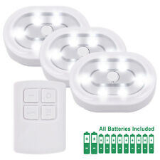 Wireless Remote LED Under Cabinet Puck Lights Battery Powered LED Night Lights