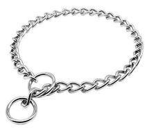 "Pet Dog Puppy Chain Collar Choker Metal Choke Curb Link Training Chrome Slip 22"""