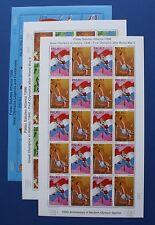 Palau (#397-401) 1996 Modern Olympics 100th Anniversary sheet set (MNH)