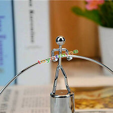 Cute Small Weightlifting Iron Man Metal Office Desk Ornament Home Decor Gift New