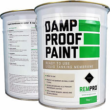 REMPRO 5KG BLACK DPM DAMP PROOF PAINT LIQUID FOR WATER PROOFING WALLS & FLOOR